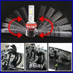 JDM ASTAR CSP H11 H8 H9 White 8000LM LED Headlight Kit Hi/Low Power Bulbs 6500K