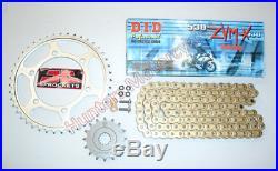 Kawasaki ZZR1400 Super Heavy Duty DID ZVMX Gold X-Ring Chain & JT Sprockets Kit