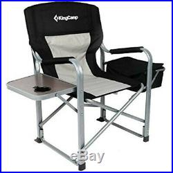 KingCamp Portable Heavy Duty Super Comfort Folding Camping Chairs 2 Chairs