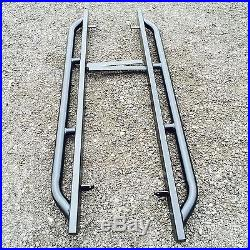 LAND ROVER DEFENDER 110 ROCK & TREE SLIDERS 60mm TUBE SUPER HEAVY DUTY NEXT DAY