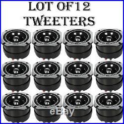 LOT OF (12) NEW Pyle PDBT45 Extra Heavy Duty Titanium Super Bullet Tweeters