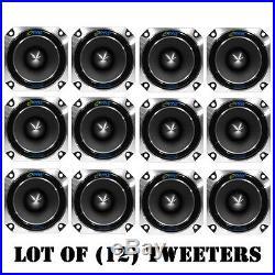 Lot of (12) Pyle PDBT28 Heavy Duty Super Car Tweeters 150 W RMS 300 W PMPO