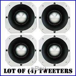 Lot of (4) Pyle PDBT58 3-Inch Extra Heavy Duty Titanium Super Bullet Tweeters