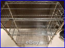 Metro Super Erecta Wire Chrome Shelving Adjustable 3 Shelf Unit Heavy Duty