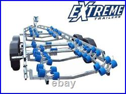New Extreme 3500Kg Super Roller Extended Galvanised Braked Boat Trailer