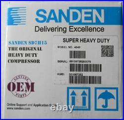 New Genuine Sanden Sd7h15 4546 Ac Compressor Super Heavy Duty