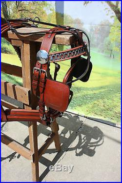 New LUXURY horse size harness Chestnut Brown SUPER HEAVY DUTY see pictures
