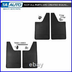 OEM Heavy Duty Rubber Mud Flaps Splash Guard Front & Rear Set for Ford Pickup