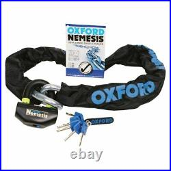 Oxford Nemesis Motorcycle Security Super Heavy Duty 16mm Chain & Padlock 2.0M
