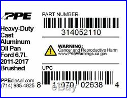 PPE Black Heavy Duty Cast Aluminum Oil Pan For Ford 2011-2017 6.7L Powerstroke