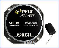 PYLE PDBT31 1.5 Inch 500W Heavy Duty Titanium Super Car Audio Tweeter (6 Pack)