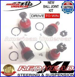 REDHEAD Upper & Lower 4 Ball Joint Kit fit Ford F250 F350 4x4 Super Duty 99-19