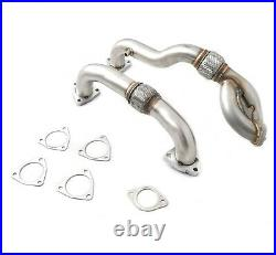 Rudy's Heavy Duty Up Pipes with Gaskets For 08-10 Ford 6.4L Powerstroke Diesel