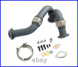 Rudy's High Temp Coated SS Up Pipes / Clamp / Install Kit 03-07 6.0L Powerstroke