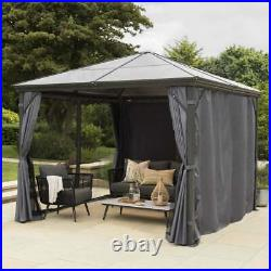 Runcton Gazebo Polycarbonate Super Strong 3m x 3m Nets & Curtains Free Delivery