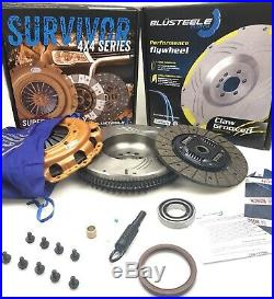 SUPER HEAVY DUTY SURVIVOR Clutch Kit FLYWHEEL for NISSAN NAVARA D40 ZD30T 250mm