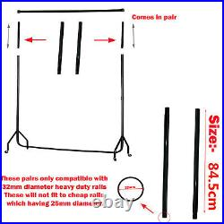 SUPER Heavy Duty 84.5cm Tall Pair Clothes Rail HEIGHT EXTENDERS Extension Poles