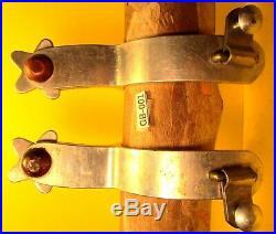 SUPER Heavy Duty & Beefy Mens CROCKETT band edge Aluminum Quality Spurs