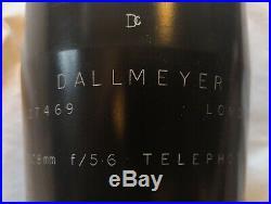 SUPER RARE DALLMEYER LONDON 508mm 5.6 TELEPHOTO LENS C-MOUNT (HEAVY DUTY)