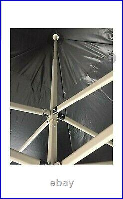 SUPER STRONG GAZEBO 3x3m White Black Marquee PopUp Pyramid Waterproof Tent