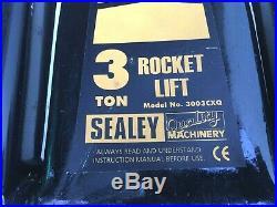 Sealey 3003CXQ 3 Ton / Tonne / 3T Heavy Duty Super Rocket Lift Trolley Jack