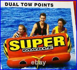 SportsStuff Super Mable 1-3 Persons Towable Tube Boating Heavy Duty Kwik Connect