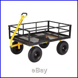 Steel Utility Carts 1,400 lb. Super Heavy Duty Tough Oversized Steel Mesh Bed