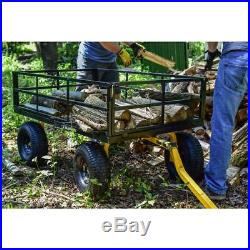 Steel Utility Carts 1,400 lb. Super Heavy Duty Tough Oversized Steel Mesh Bed