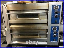 Super Commercial Electric Single Phase Heavy Duty Double Deck Pizza Oven Used