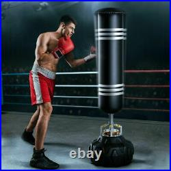 Super Heavy 6ft Free Standing Punch Bag Duty Boxing Kick Stand Gym Training UK