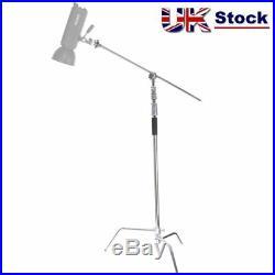 Super Heavy Duty 134 340cm C-Stand Turtle Base Extension Boom Arm Grip Head UK