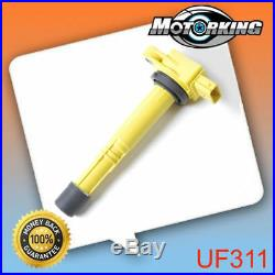 Super Heavy Duty Blaster Ignition Coil Yellow 4PCS For Acura Honda B289y4 IC425