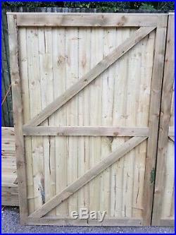 Super Heavy Duty Fully Framed Pressure Treated Garden Driveway Gates 6'x7'11