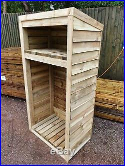 Super Heavy Duty Tanalised Pressure Treated Timber Garden Log Stores