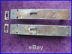 Super pair solid brass antique heavy duty sprung top and bottom of door bolts