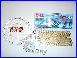 Suzuki GSX1400 DID ZVMX Gold XRing Super Heavy Duty Chain & JT Sprockets Kit