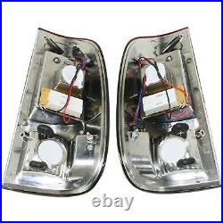 Tail Light For 97-2003 Ford F-150 Set of 2 LH and RH Smoke Red Lens