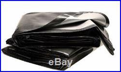 Tuff Tarps Super Heavy Duty 270gsm Tarpaulin, Black/Silver, 3 Core, Waterproof