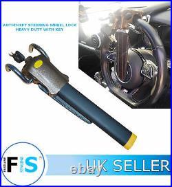 Universal Car Van Anti-theft Steering Wheel Lock 360 Deg Heavy Duty + Key Aud3