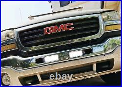 Upper Bumper Grille Mount LED Light Bar Kit For 03-06 GMC Sierra 1500 2500 3500