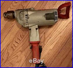 Used Heavy Duty Milwaukee 1854-1 Super Hole Shooter 3/4-Inch Large Drill 350 RPM