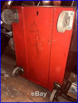 Vintage Snap-on Super Heavy Duty Rolling Tool Chest 3 Drawer 1 Cubby + Catalogue
