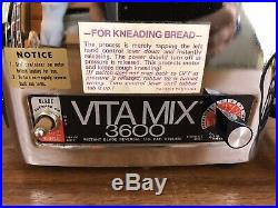 Vitamix 3600 Plus Heavy Duty Blender Juicer Bread Mixer Stainless Steel Spigot