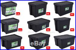 Wham Bam Heavy Duty Plastic Storage Boxes Black Recycled Plastic Super Stong