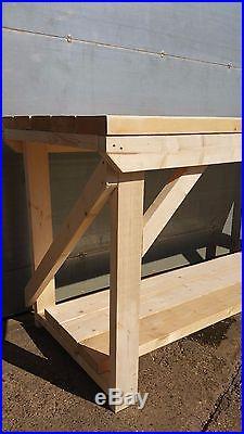 Wooden 2x6 Super Heavy Duty INDOOR / OUTDOOR WorkBench 3ft to 6ft, work table
