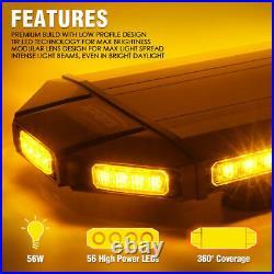 Xprite 27 Amber LED Strobe Light Bar Heavy-duty Rooftop Emergency Warning Lamp
