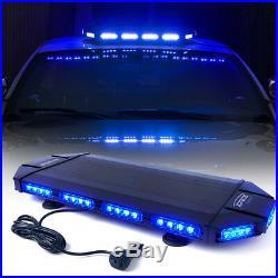 Xprite 27 Heavy Duty Low Profile LED Emergency Rooftop Strobe Light Bar Blue