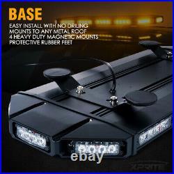 Xprite 27 Inch Amber LED Strobe Light Bar Stealth Heavy Duty Emergency Warning