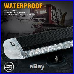 Xprite Amber 22 Rooftop Traffic Advisor Strobe Light Bar Emergency Heavy Duty